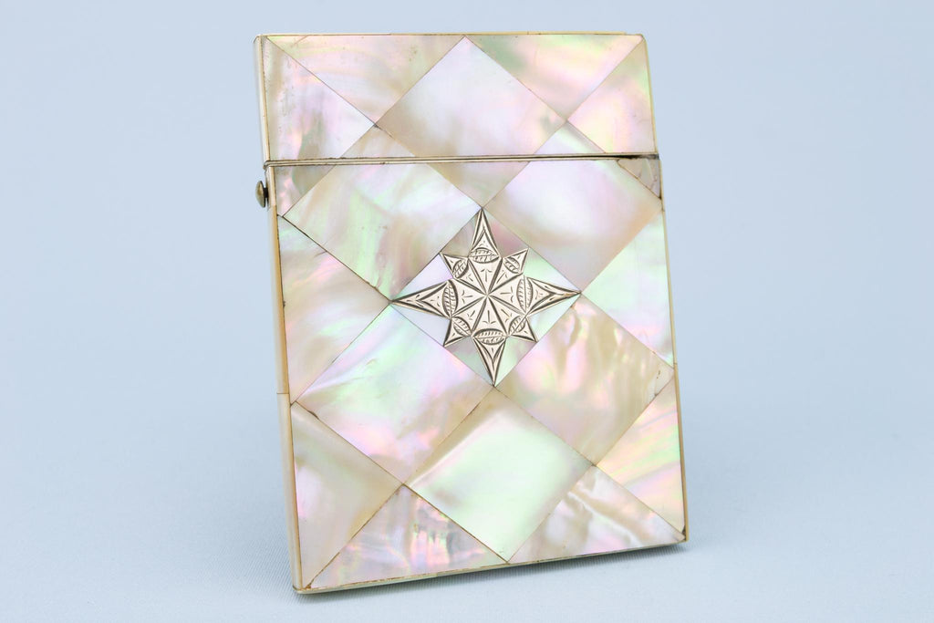 Mother Of Pearl Calling Card Case, English Circa 1880