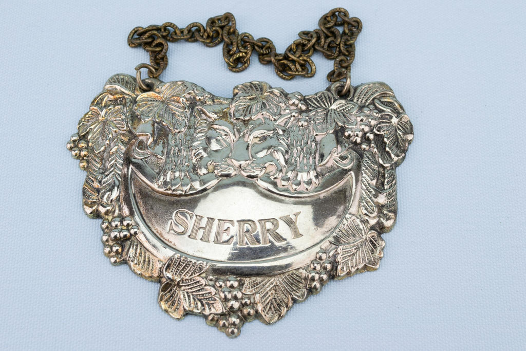 Sherry Decanter Label, English circa 1900
