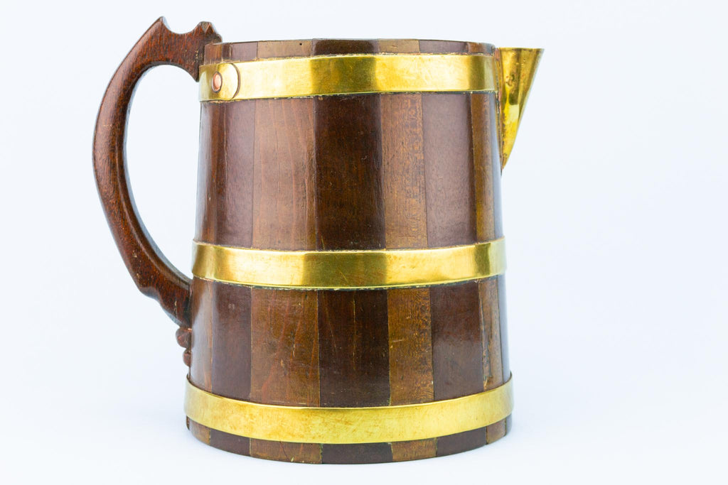 Coopered Ale Jug, Scottish 19th Century