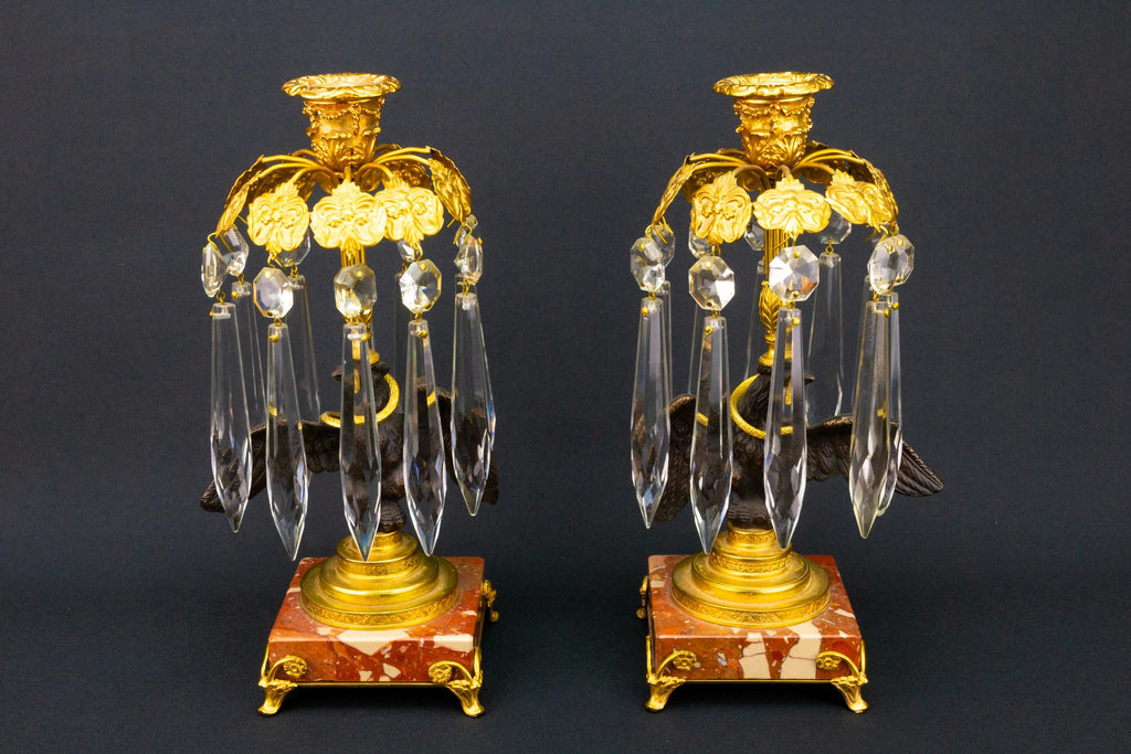 Eagle & Snake Candlesticks, French 19th Century