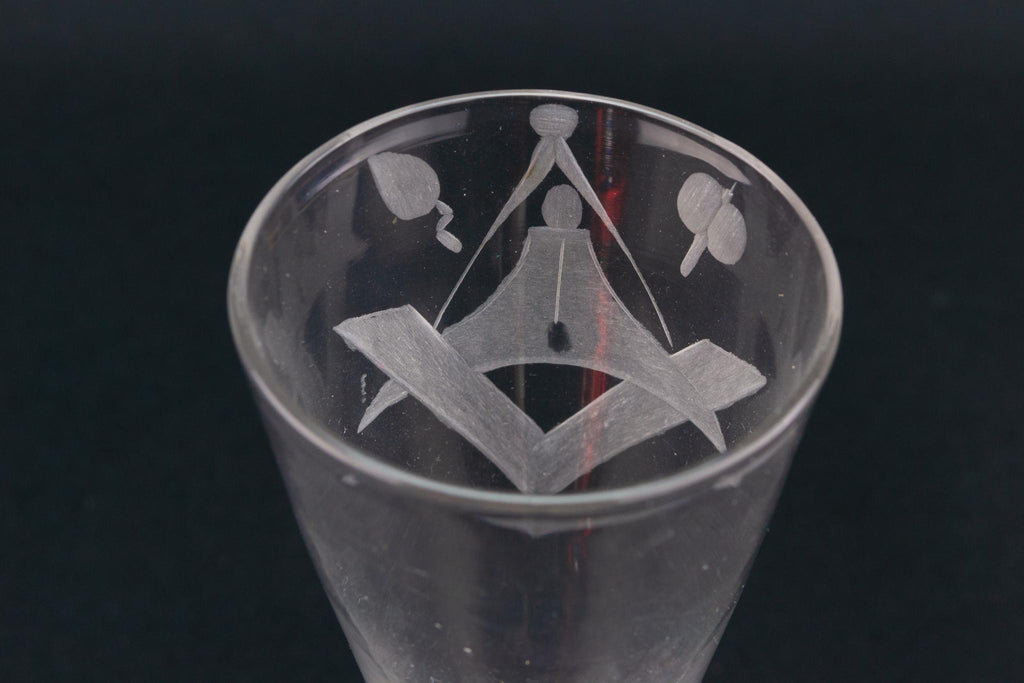 Masonic Ale Glass Flute, English Circa 1770