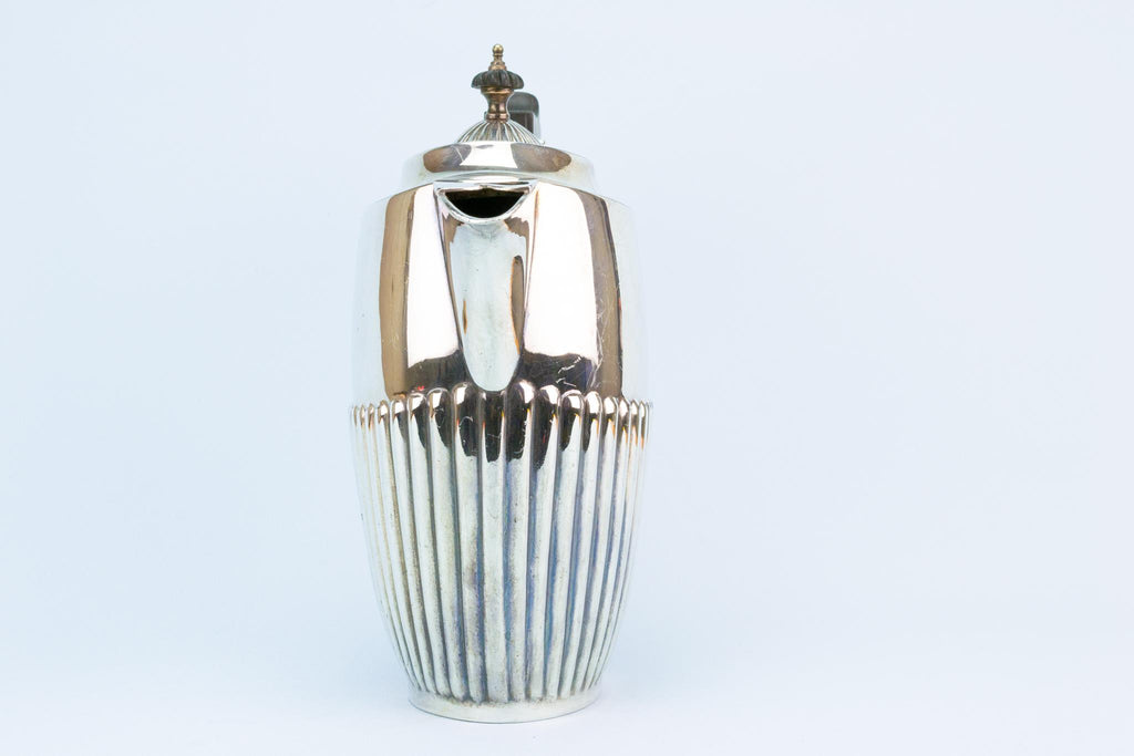 Silver Plated Coffee Pot, English 1930s