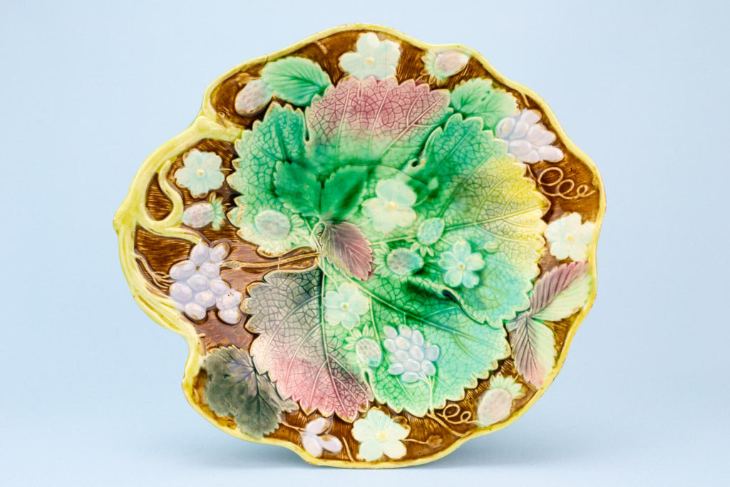 Majolica Strawberry & Grape Bowl