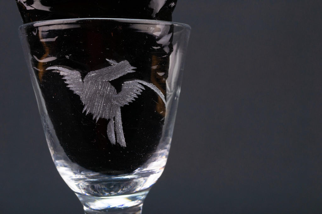 Engraved Port Glass, English Circa 1750