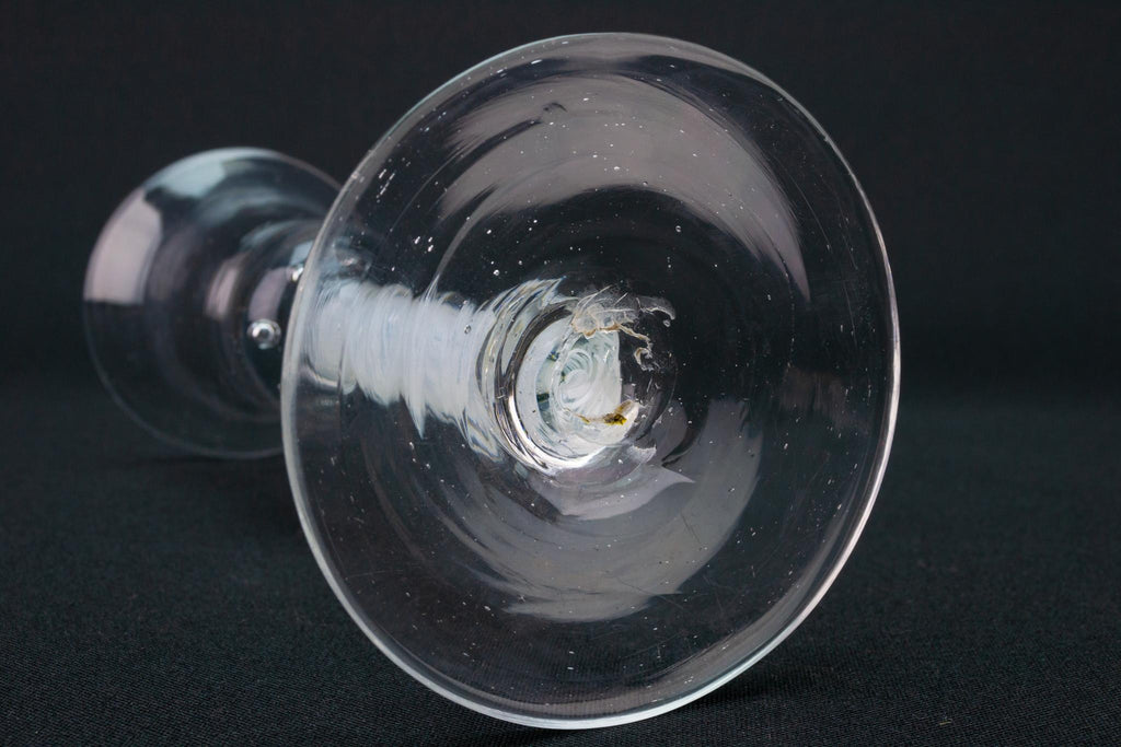 Wine Glass Air Twist and Bubble Stem, English Circa 1765