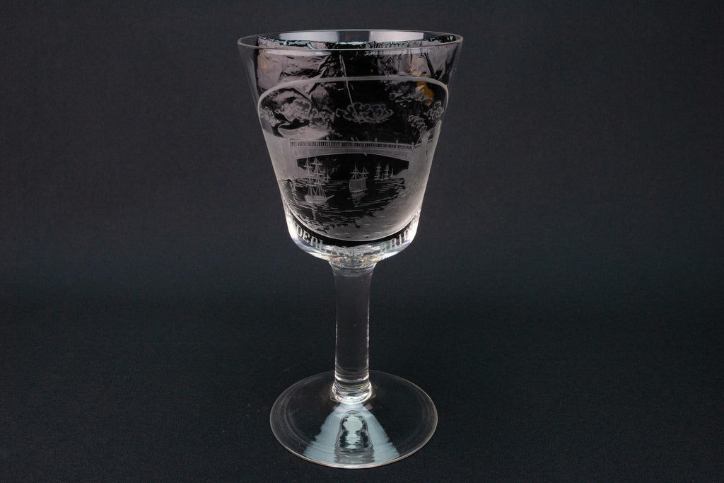 Large Wine Glass Goblet, English circa 1820