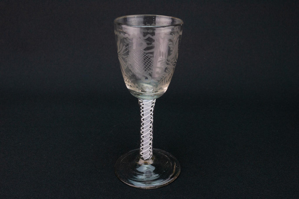 Engraved Ferns Wine Glass, English circa 1760