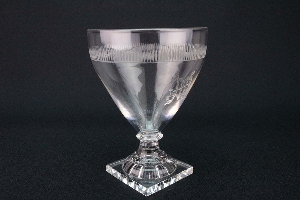 Large Wine Glass Rummer, English circa 1780