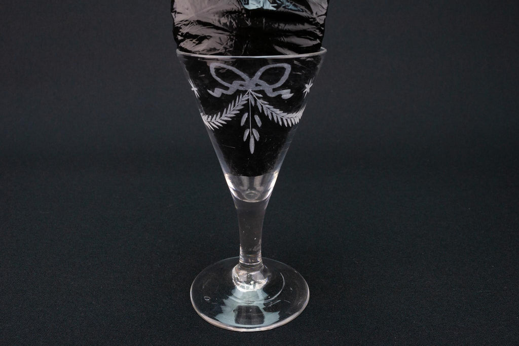 Engraved Port Glass, English circa 1780