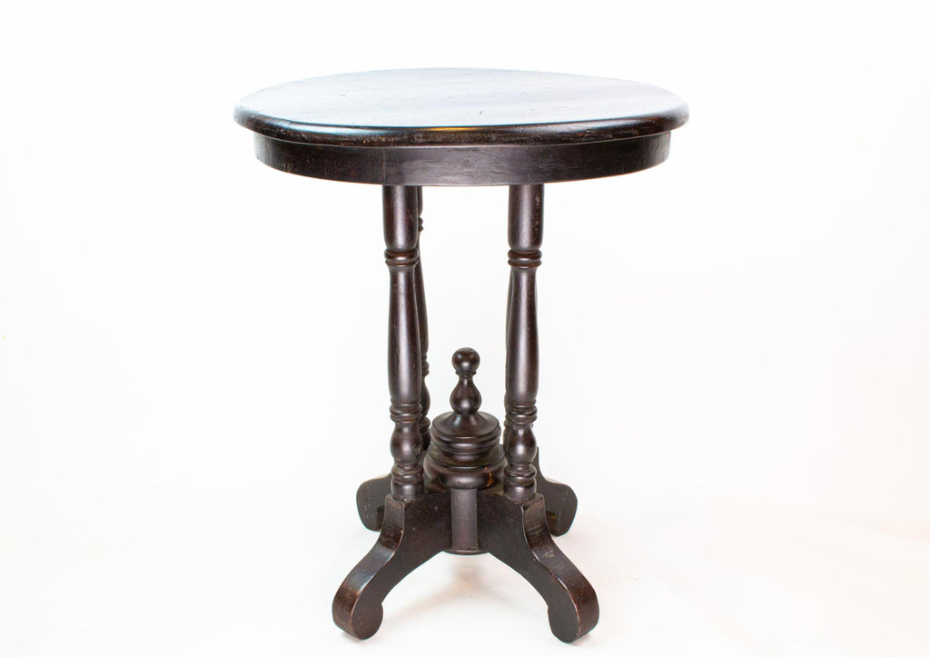 Small Black Lamp Table