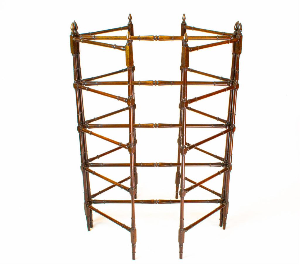 Georgian Mahogany Clothes Rail, English 18th Century