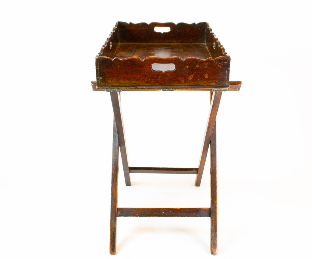 Mahogany Butlers Tray On Stand, English 18th Century