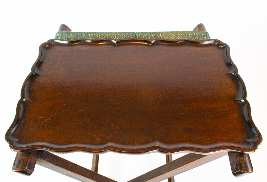 Solid Mahogany Serving Tray, English Circa 1900