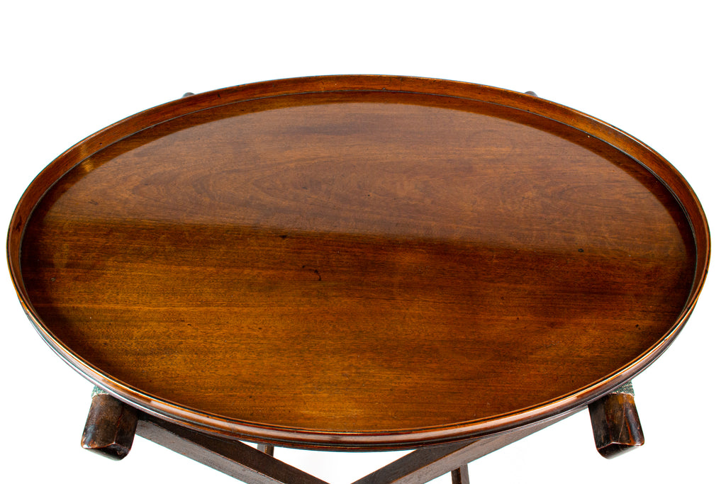 Fine & Large Mahogany Tray, English Circa 1800
