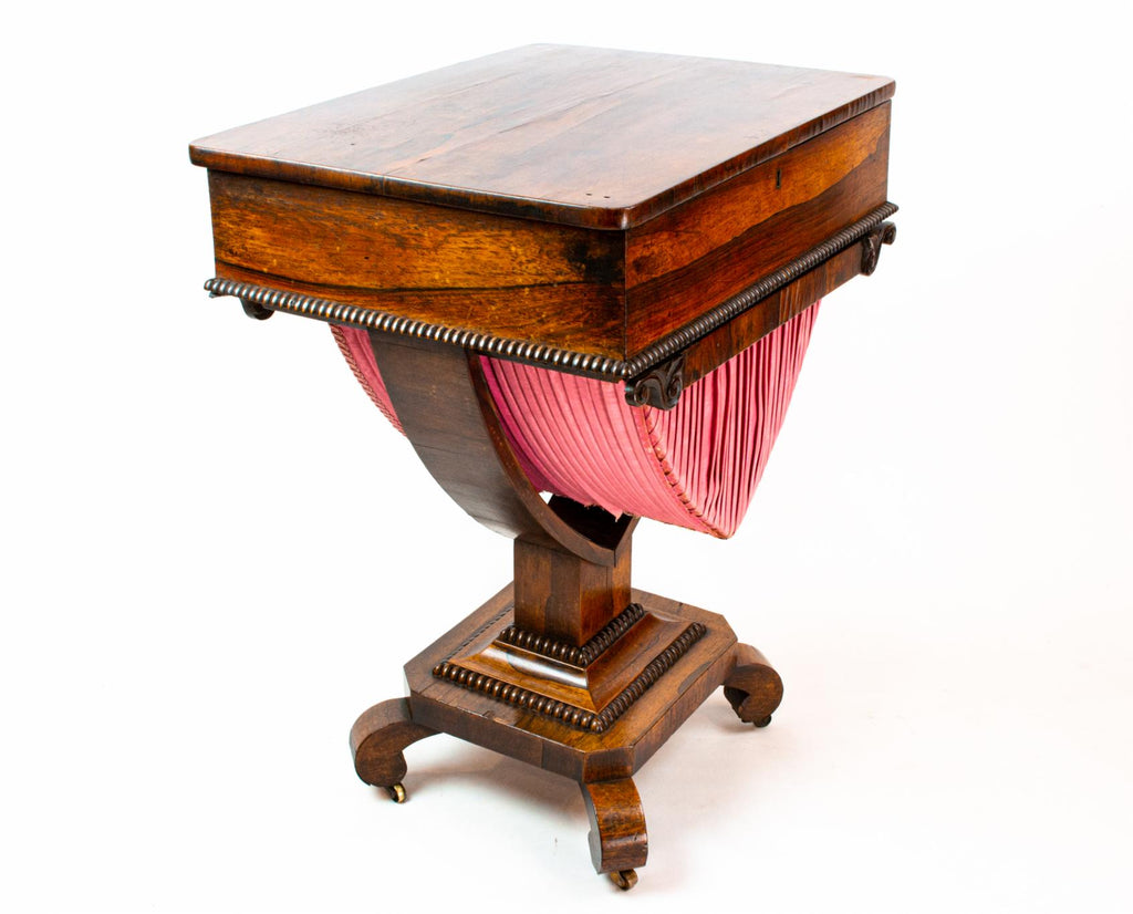 Rosewood Work Table, English 1830s