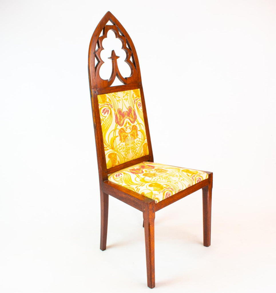 Two Gothic Revival Chairs, English 19th Century