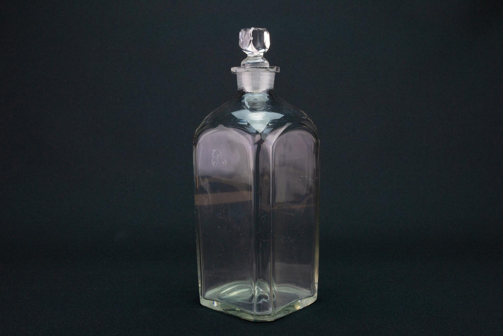 Georgian Square Whisky Decanter, English 18th Century