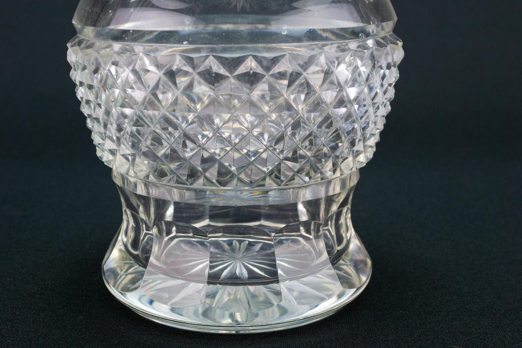 Small Cut Glass Decanter, English Circa 1800
