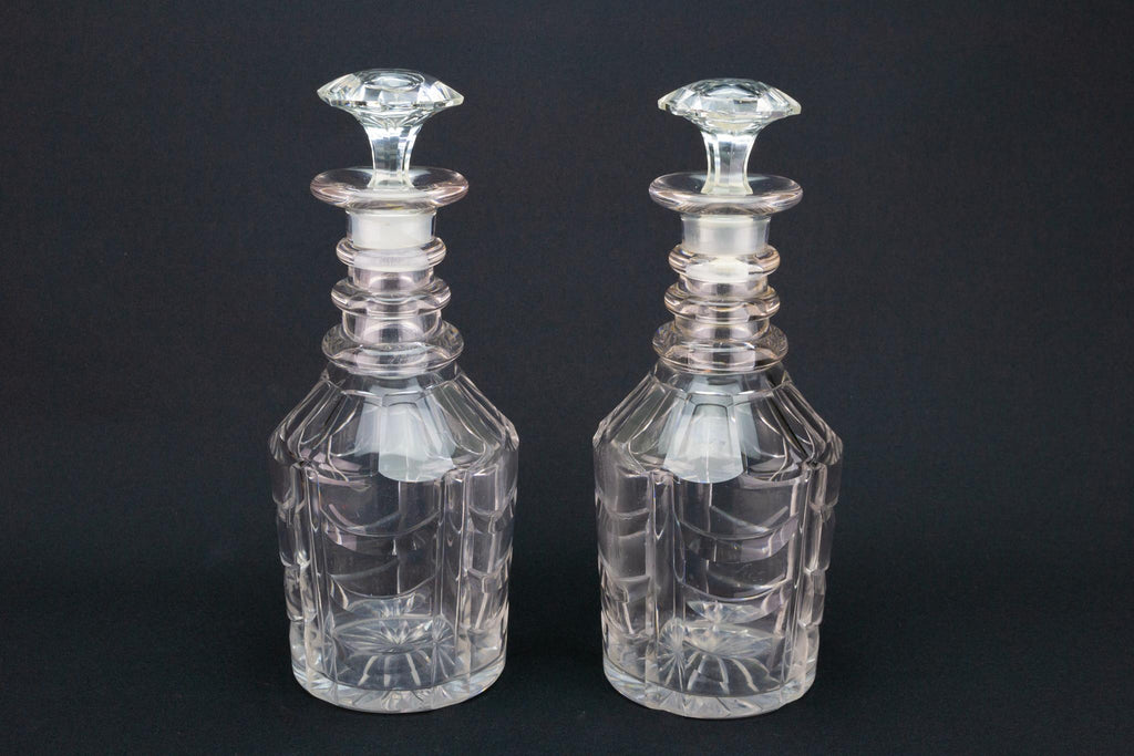 Two Port and Sherry Decanters, English Circa 1830
