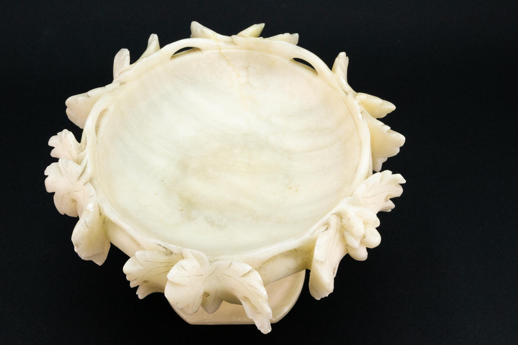 Alabaster Tazza with Grapes and Dolphins
