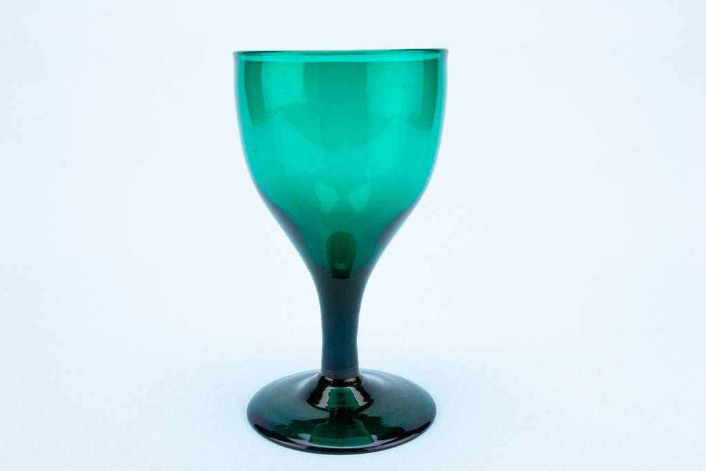 Dark Green Wine Glass, English circa 1800