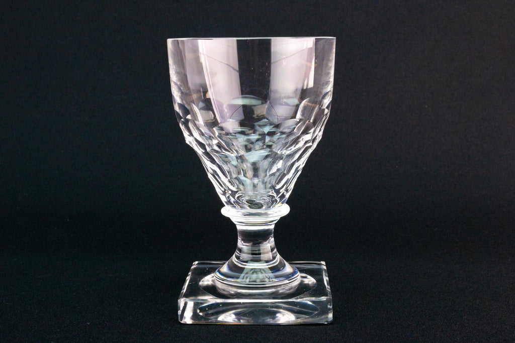 Square Base Wine Glass Rummer, English Circa 1810