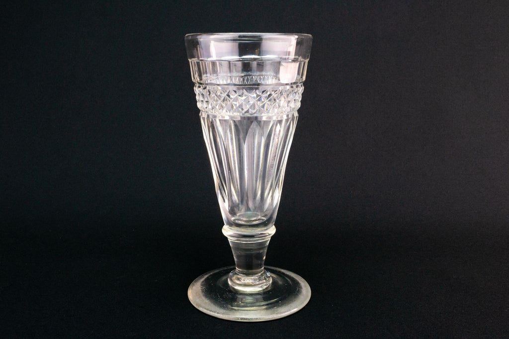 Cut Glass Champagne Flute or Sundae Dish, English Circa 1800