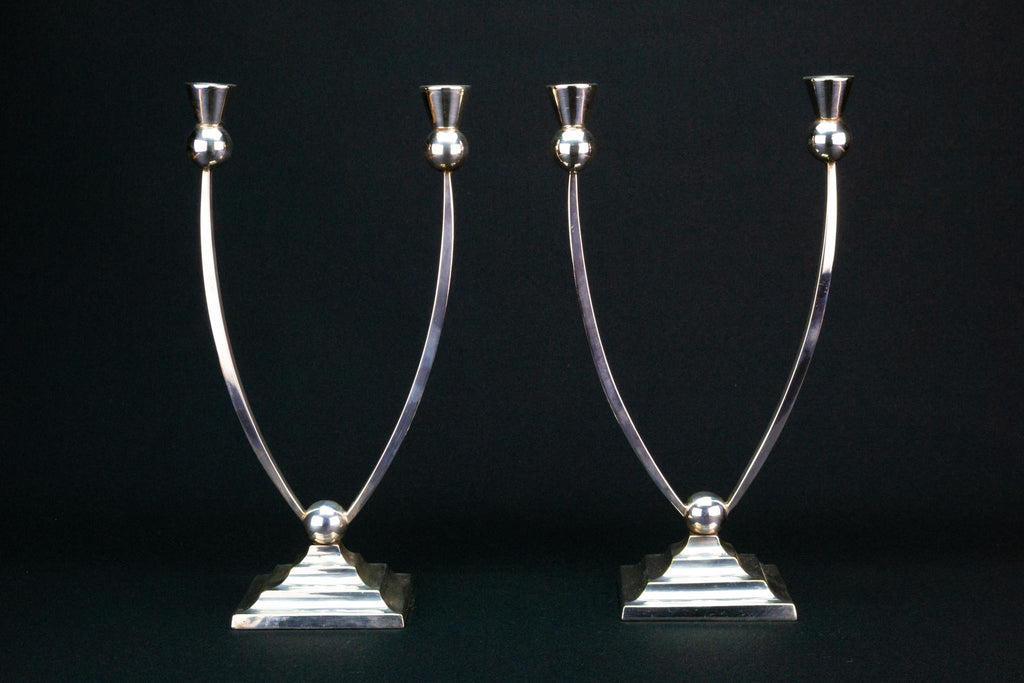 Art Deco Candelabras, English 1930s