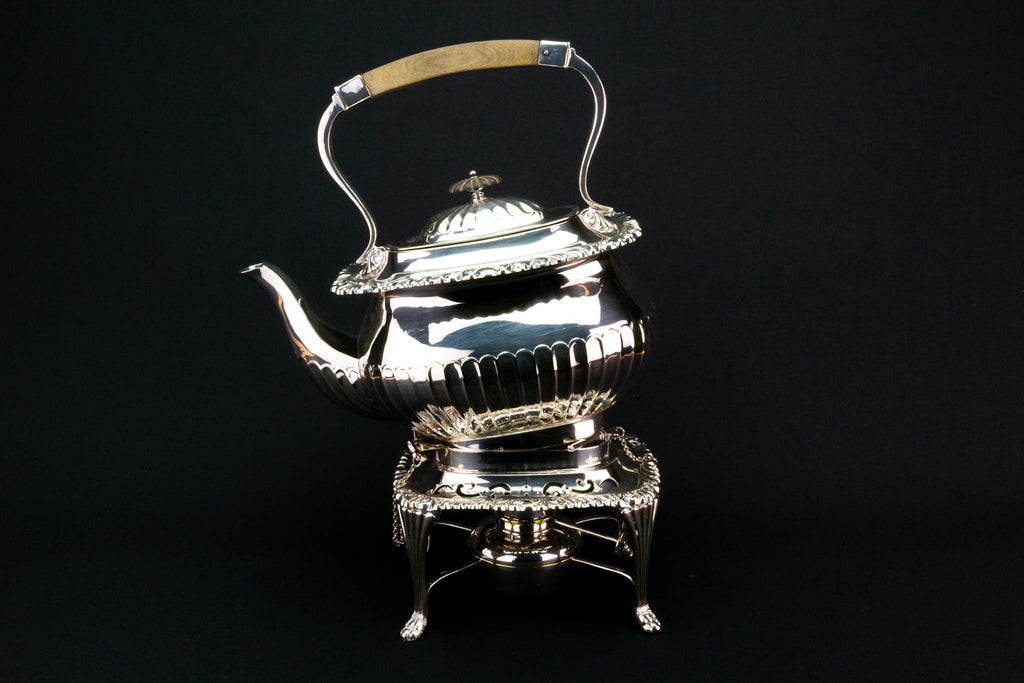 Tea Kettle on a Spirit Stand, English Early 1900s