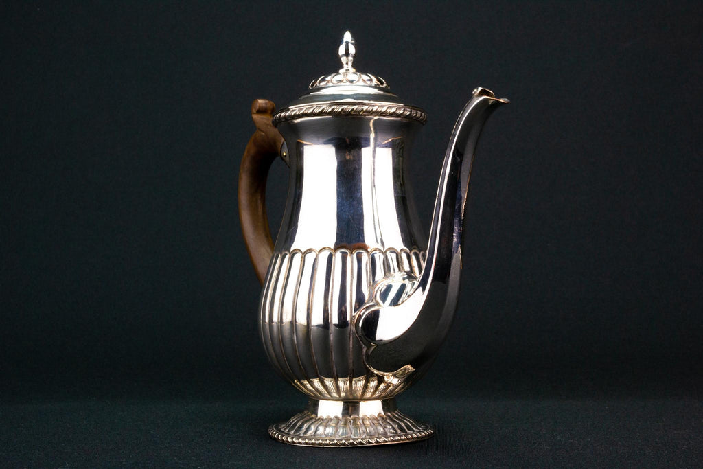 Small Silver Plated Coffee Pot, English Circa 1900