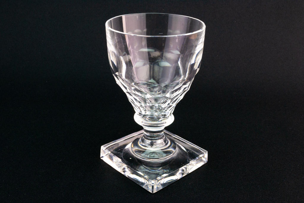 Wine Glass Rummer on a Square Base, English Circa 1810