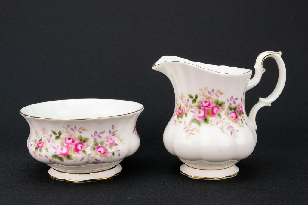 Royal Albert Milk and Sugar Set, English 1960s