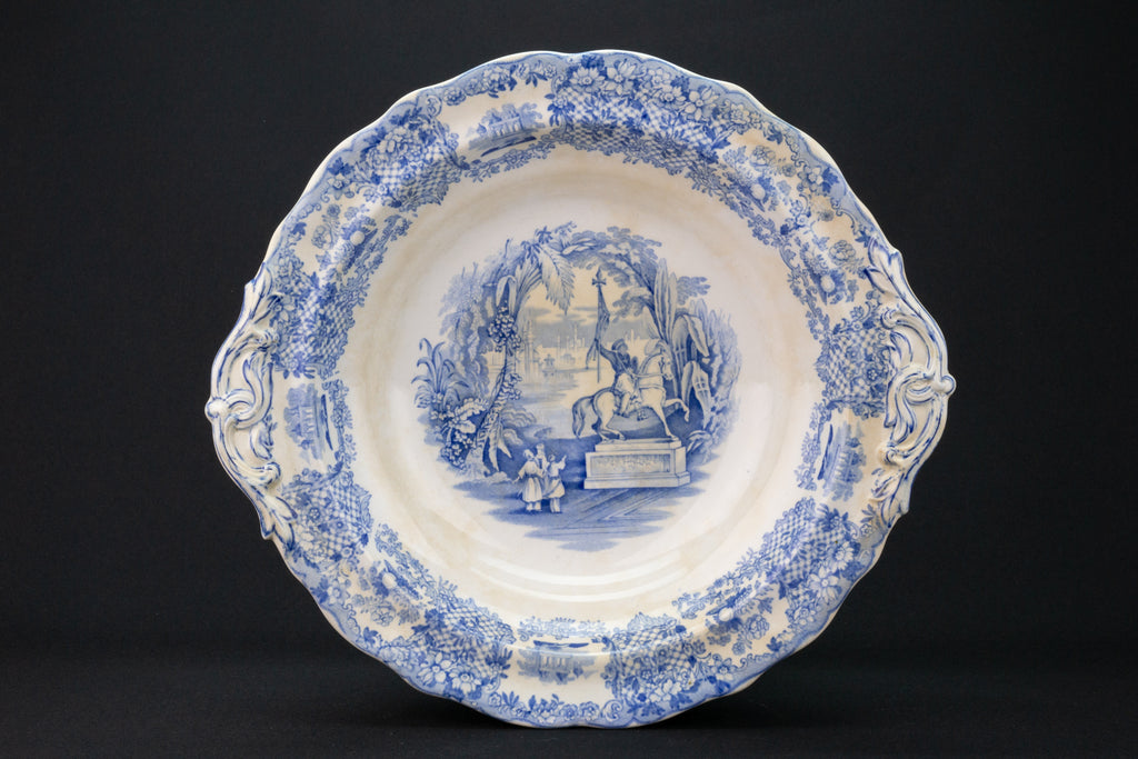 Blue & White Serving Bowl and Lid, Dutch 19th Century