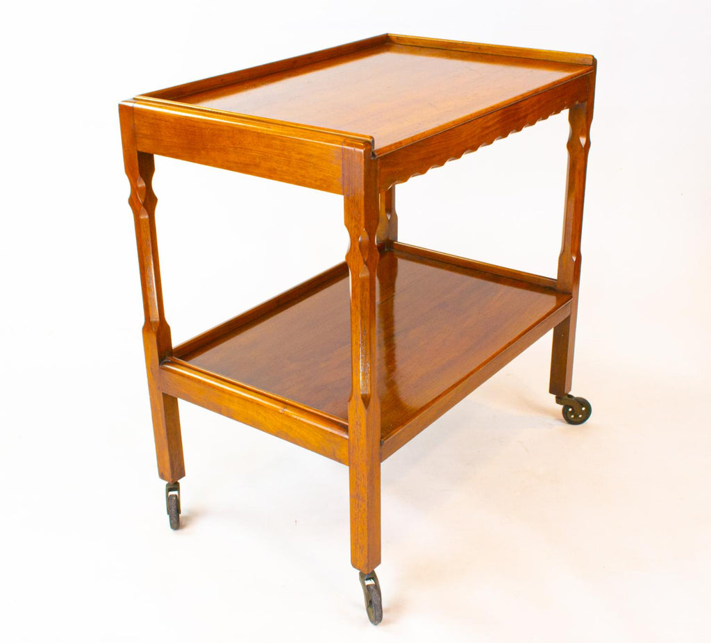 Mahogany Drinks Trolley on Wheel, English 1930s