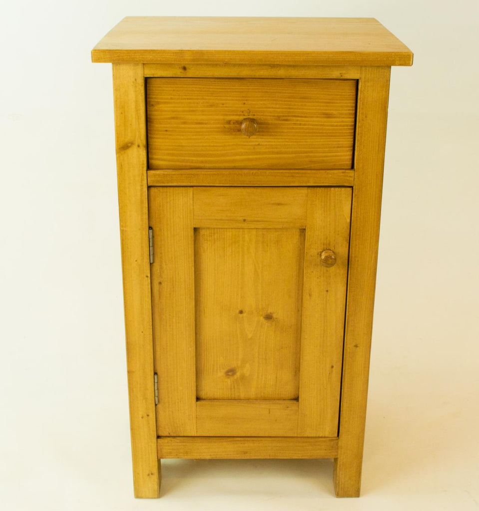 Two Bedside Pine Cabinets, English circa 1900
