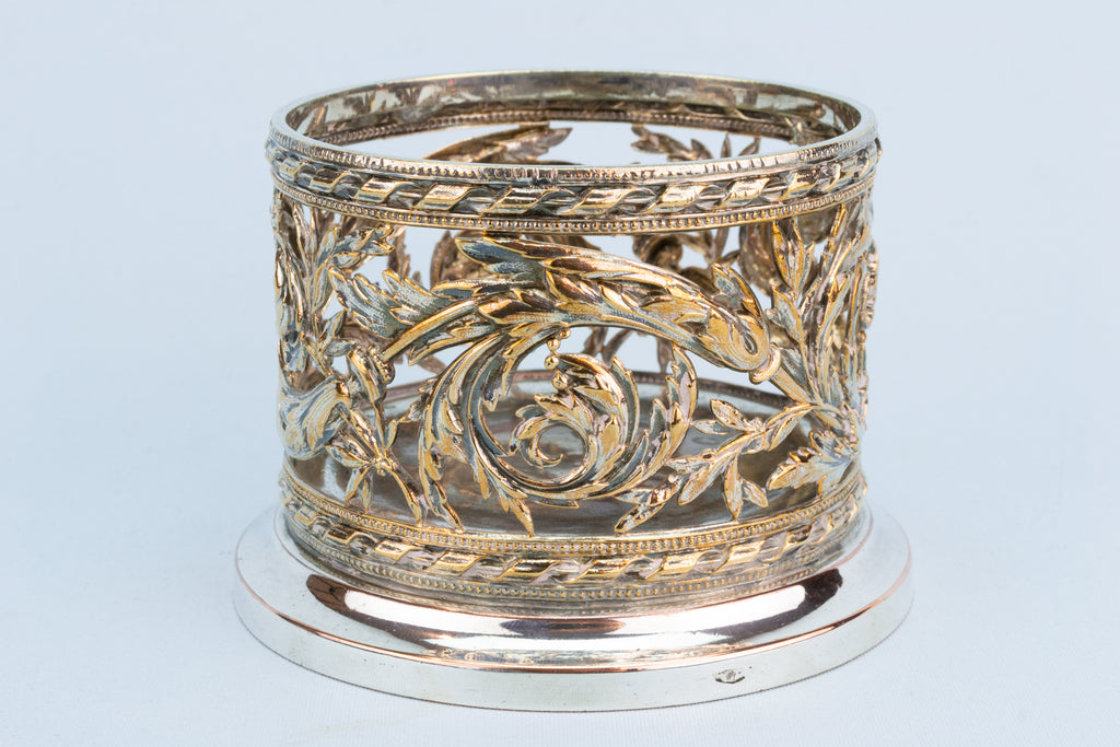 Acanthus Scroll Wine Coaster, English 1870s