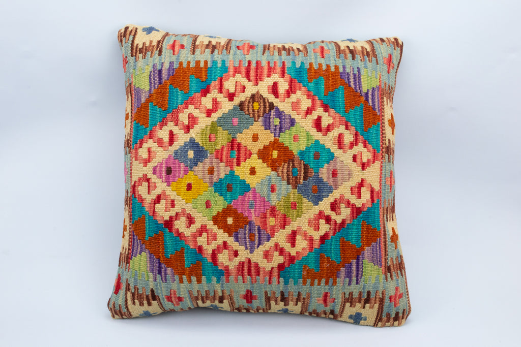 Colourful Vintage Kilim Rug Cushion