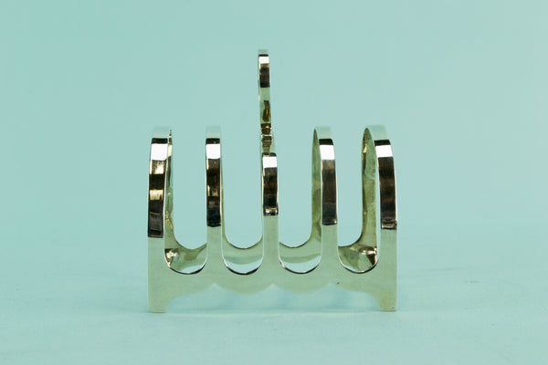Sterling silver toast rack, 1943