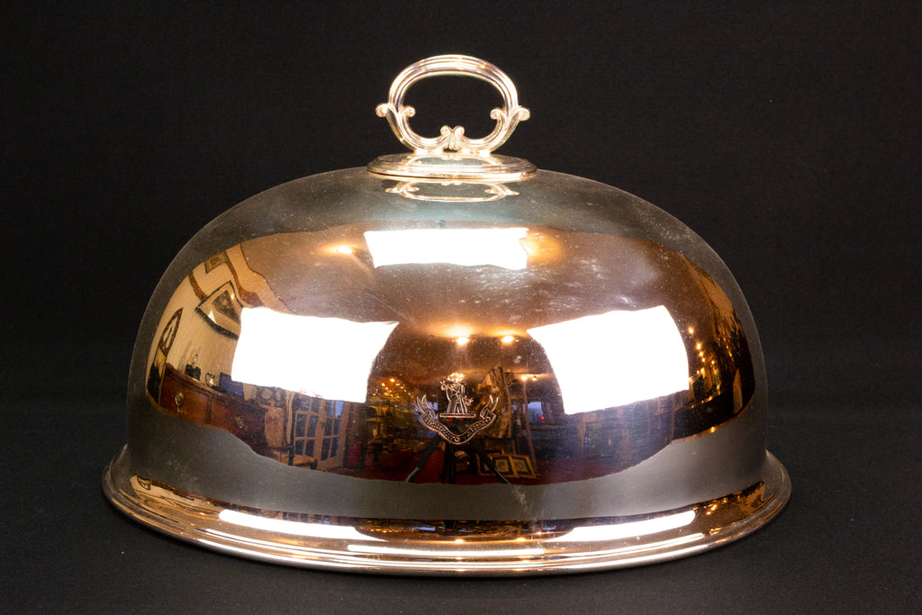 Medium Silver Plated Meat Cover by Walker & Hall