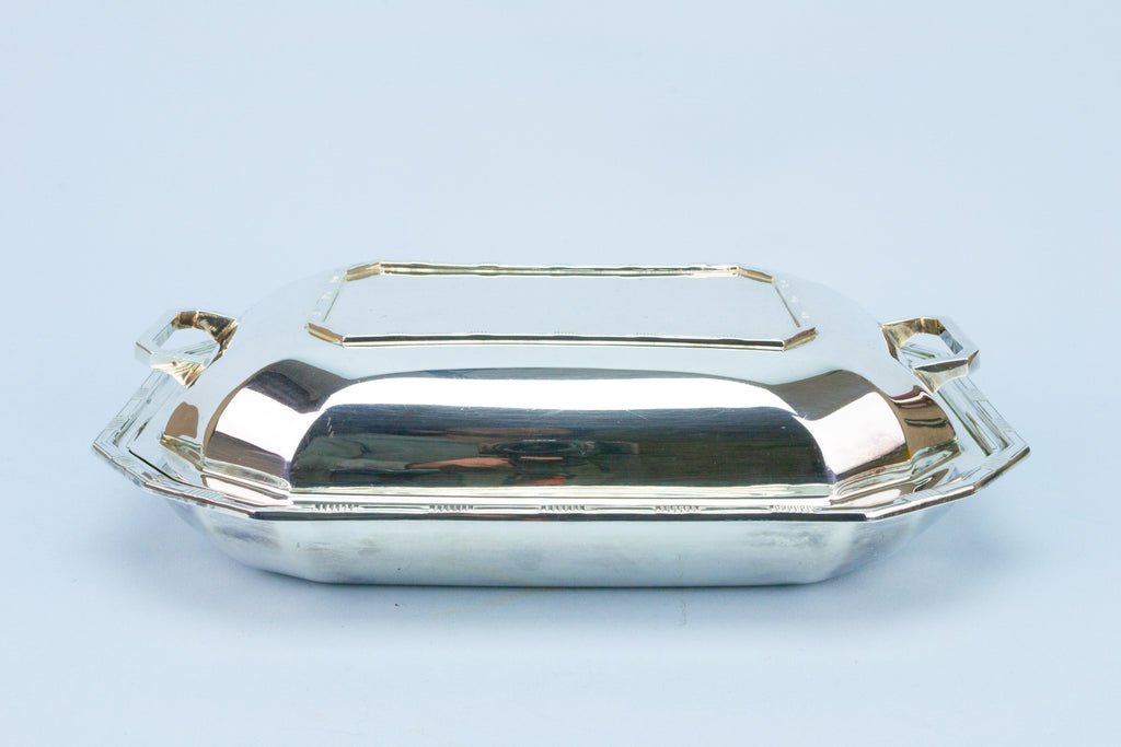 Serving Hot Dish with Lid Art Deco 1920s