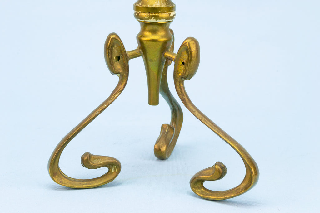 Art Nouveau Brass Candlesticks English Early 1900s