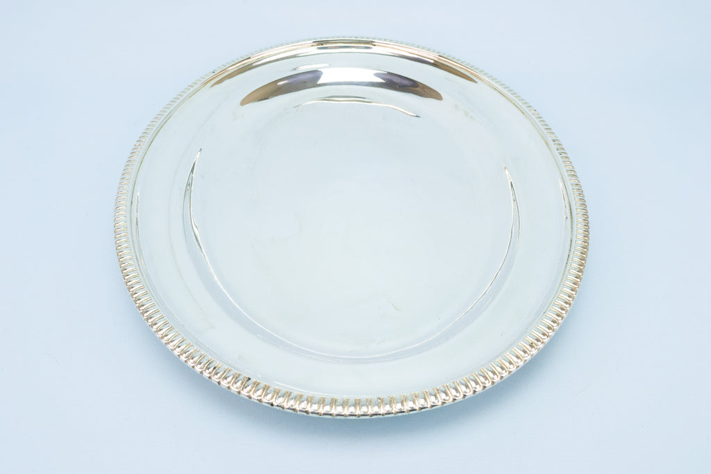Medium Silver Plated Serving Tray 1930s