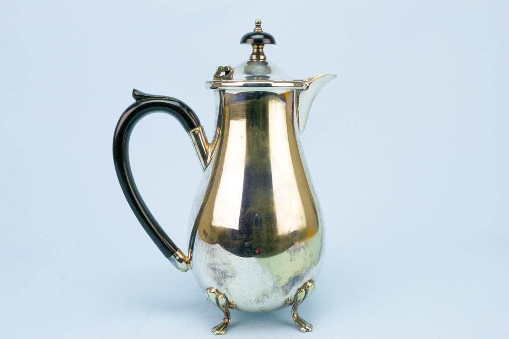 Silver Plated Coffee Pot English 1930s