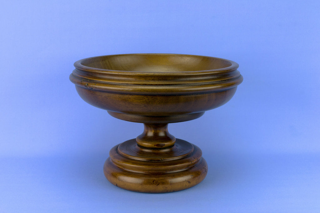 Turned Wood Fruit Bowl, English 1930s