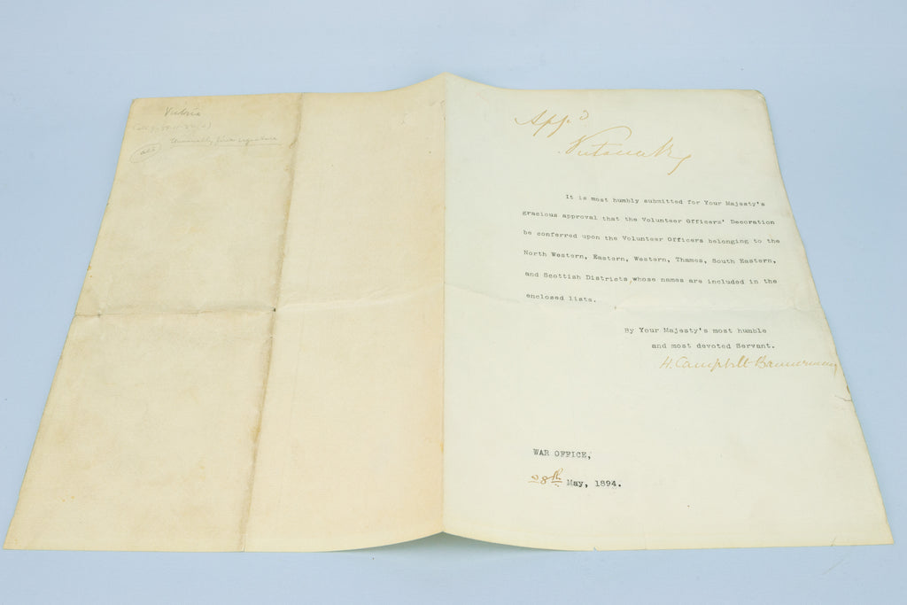 Queen Victoria Signed Document from 1894