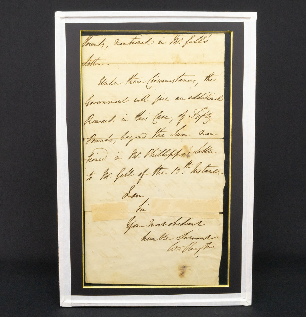 Letter by Duke of Wellington, 1834