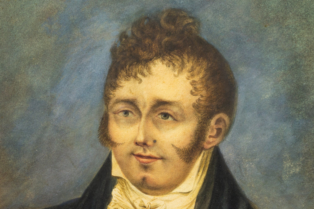 1810 Watercolour Portrait of a Regency Gentleman