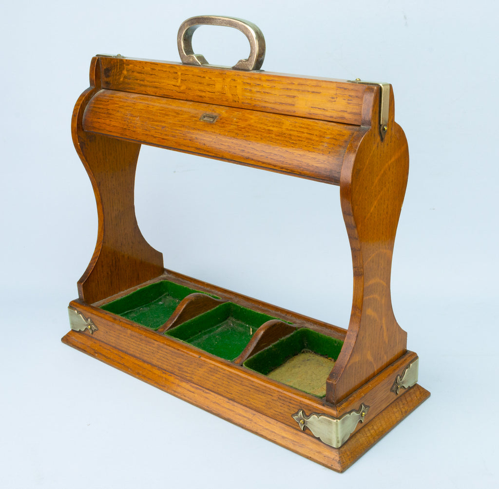 Tantalus for Three Square Decanters, English circa 1900