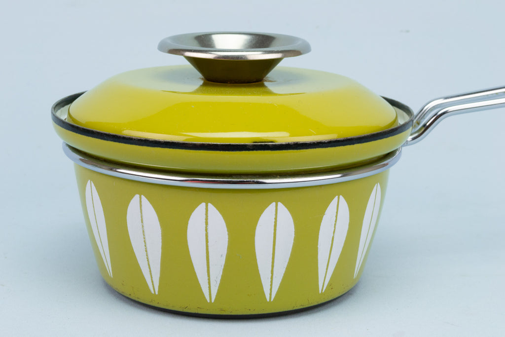 1960s Cathrineholm Green Lotus Sauce Pan
