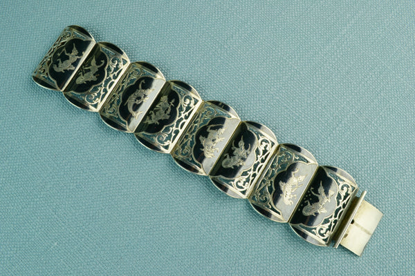 Bracelet with 8 Solid Sterling Silver Links